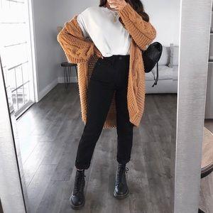 High Waisted Black Jeans